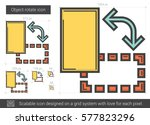 object rotate vector line icon... | Shutterstock .eps vector #577823296