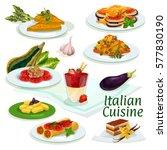 italian cuisine traditional...   Shutterstock .eps vector #577830190