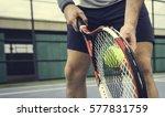 tennis sport racket racquet...   Shutterstock . vector #577831759