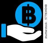 baht coin payment hand glyph... | Shutterstock . vector #577834048