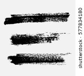 set of black paint  ink brush... | Shutterstock .eps vector #577834180