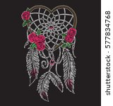 hand drawn heart shaped dream...   Shutterstock .eps vector #577834768