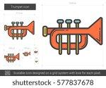 trumpet vector line icon... | Shutterstock .eps vector #577837678