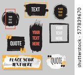 vector quote collection. hand... | Shutterstock .eps vector #577839670