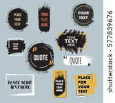 vector quote collection. hand... | Shutterstock .eps vector #577839676