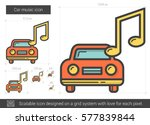 car music vector line icon... | Shutterstock .eps vector #577839844