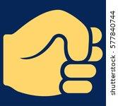 fist vector icon. flat yellow... | Shutterstock .eps vector #577840744