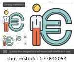 currency market vector line... | Shutterstock .eps vector #577842094