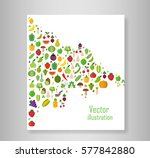 book vegetables fruits ... | Shutterstock .eps vector #577842880