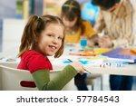 portrait of happy elementary... | Shutterstock . vector #57784543
