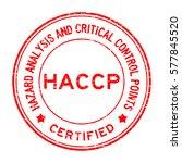 grunge red haccp  hazard... | Shutterstock .eps vector #577845520