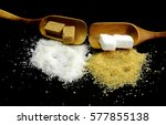 brown and white sugar   Shutterstock . vector #577855138