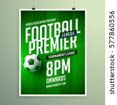 soccer league flyer design... | Shutterstock .eps vector #577860556