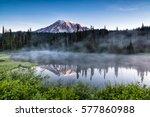 Scenic View Of Mount Rainier...