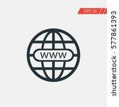 world wide web globe vector icon | Shutterstock .eps vector #577861393