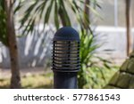 the lamp pole in the park | Shutterstock . vector #577861543