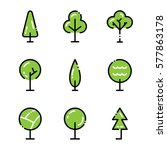 tree icon set. collection high...   Shutterstock .eps vector #577863178