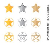 flat star set. stars vector...