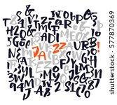 bold alphabet letters ... | Shutterstock .eps vector #577870369
