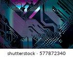 Circuit Board Multicolor...