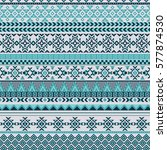 ethnic seamless pattern with... | Shutterstock .eps vector #577874530