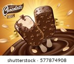 Chocolate Ice Bar Ad  With...