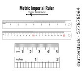 metric imperial rulers vector....