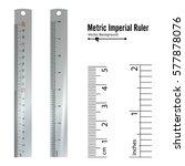 metric imperial rulers vector....   Shutterstock .eps vector #577878076