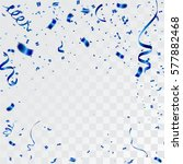 blue confetti celebration | Shutterstock .eps vector #577882468
