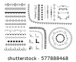 big set of decorative elements  ... | Shutterstock .eps vector #577888468