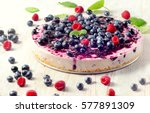 Cheesecake With Blueberries....