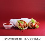 chicken shawarma with tomato... | Shutterstock . vector #577894660