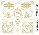 vector set of vintage elements... | Shutterstock .eps vector #577896313