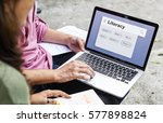 dictionary search support... | Shutterstock . vector #577898824