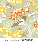 seamless wallpaper pattern with ... | Shutterstock .eps vector #57790183