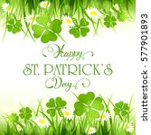 patricks day background with...   Shutterstock .eps vector #577901893