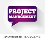 project management text message ... | Shutterstock . vector #577902748