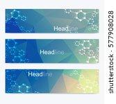scientific set of modern vector ...   Shutterstock .eps vector #577908028