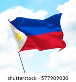 flag of philippines raised up... | Shutterstock . vector #577909030