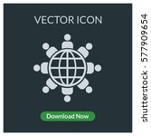 people aroun the globe vector... | Shutterstock .eps vector #577909654