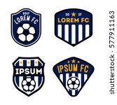 football logo set isolated in...   Shutterstock .eps vector #577911163