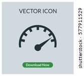 speedometer vector icon | Shutterstock .eps vector #577911529