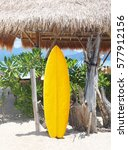 surfboard on the beach | Shutterstock . vector #577912156