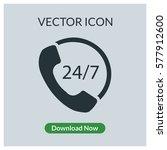 24 7 call center support vector ... | Shutterstock .eps vector #577912600