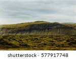 Small photo of Landscape in Iceland,mountains and moss all over the place