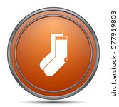 socks icon. orange internet... | Shutterstock . vector #577919803