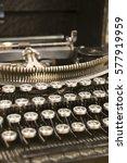 old vintage typewriter | Shutterstock . vector #577919959