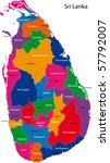 map of the democratic socialist ... | Shutterstock .eps vector #57792007