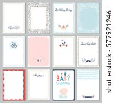 universal cards templates. use... | Shutterstock .eps vector #577921246