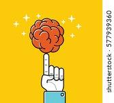 brain as ball  enjoy the game.... | Shutterstock .eps vector #577939360